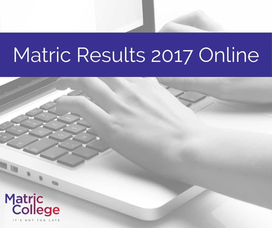 Matric Results 2017 Online
