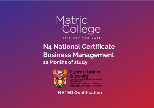 N4 Business Management National Certificate NATED