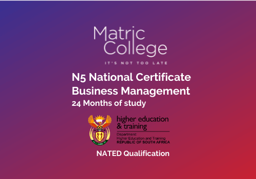 N5 Business Management National Certificate NATED