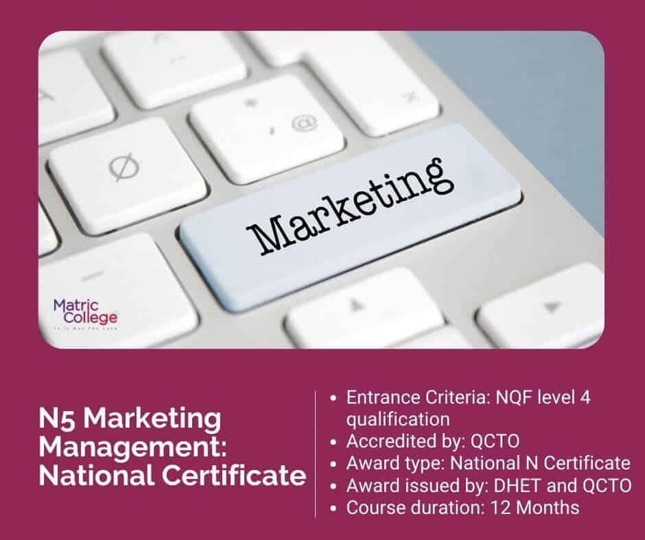 N5 Marketing Management National Certificate