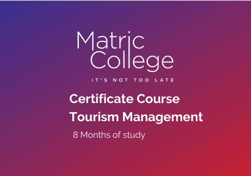 Tourism Management Certificate