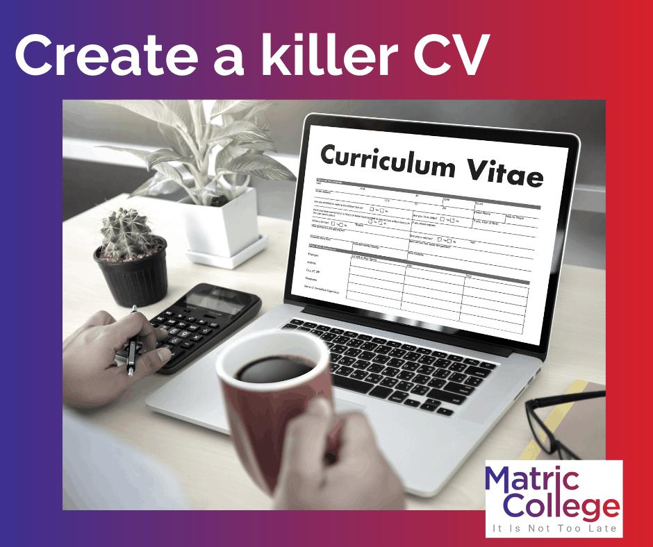 Create a killer CV
