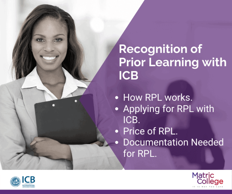 Recognition of Prior Learning with ICB