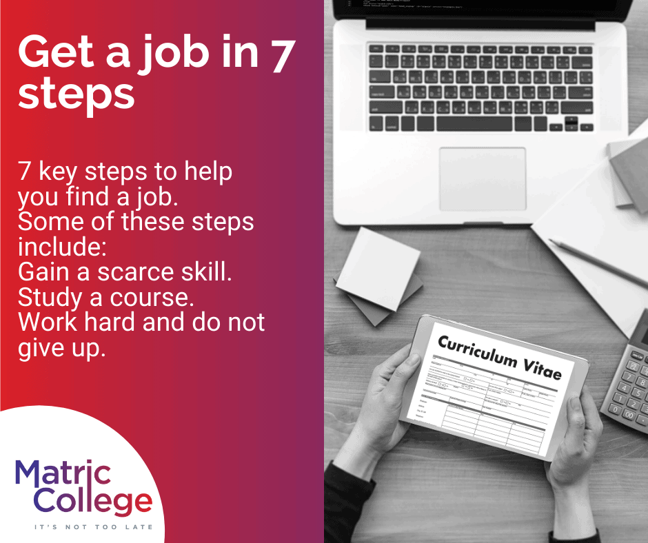 Get a job in 7 steps