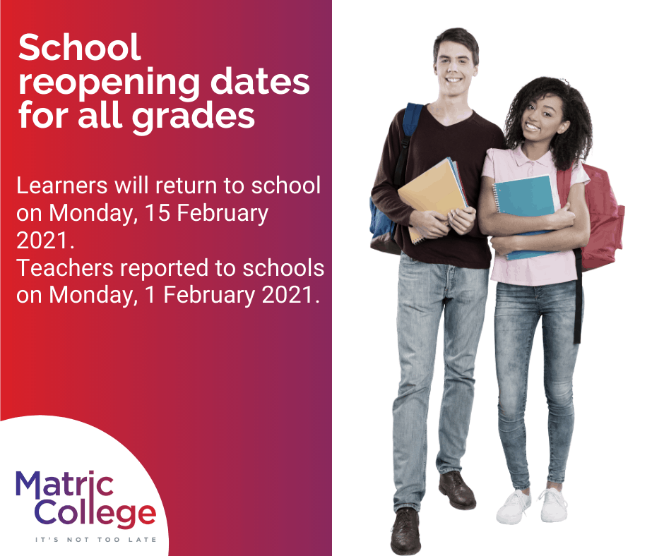 School reopening dates for all grades