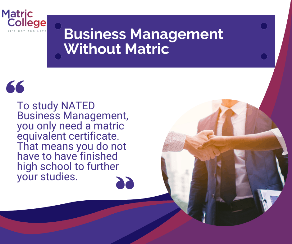Business Management Without Matric