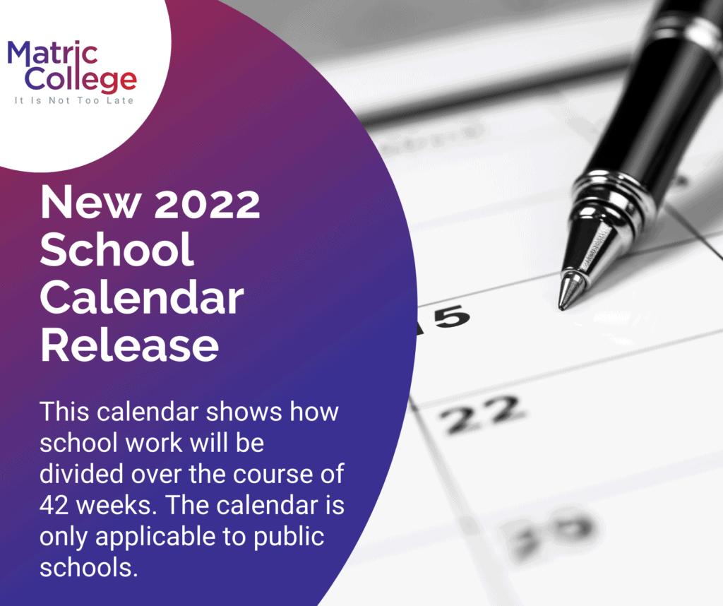 New 2022 School Calendar Release