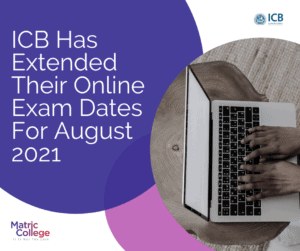 ICB Extended online exam dates
