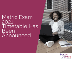 matric exam timetable 2021